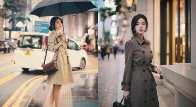 Mẫu áo khoác dạ nữ đẹp phong cách Hàn Quốc