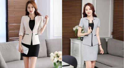 mẫu áo khoác nữ dáng ngắn đẹp 2020 cho nữ công sở