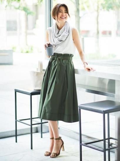 Các kiểu áo mặc với chân váy xòe dài đẹp kiểu dáng hàn quốc - mẫu 1