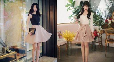 Mẫu chân váy xòe đẹp 2020 kiểu dáng Hàn Quốc