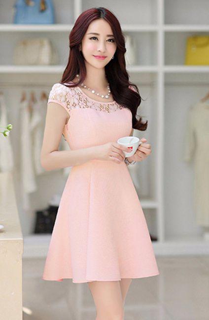 Thời trang những mẫu Đầm Màu Hồng đẹp - Hình 3