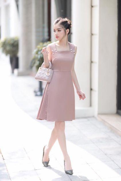 Thời trang những mẫu Đầm Màu Hồng đẹp - Hình 4
