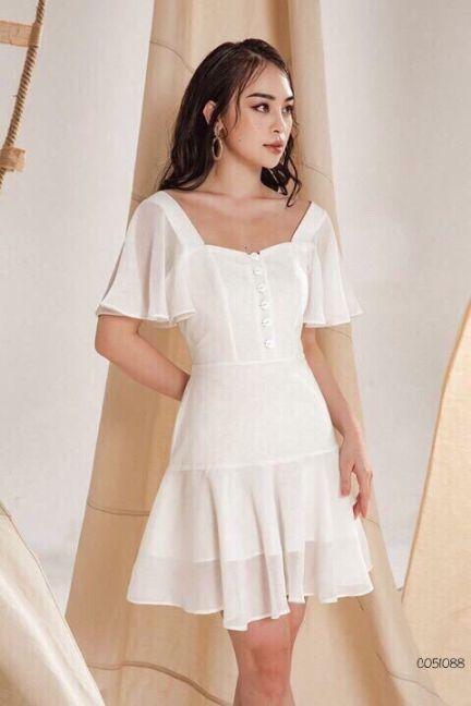 Xu hướng thời trang Đầm Màu trắng đẹp nhất hiện nay - Hình 3