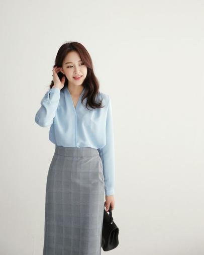 Các kiểu áo sơ mi nữ đẹp dành cho nàng công sở phong cách Hàn Quốc - 2