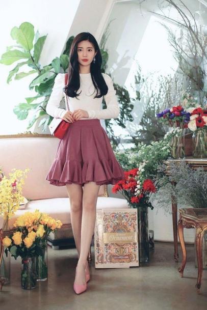 Những kiểu chân váy xòe đẹp nhất dành cho nữ - mẫu 2