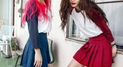 Cách mix đồ kết hợp chân váy xòe ngắn đẹp như sao Hàn Quốc - hình ảnh 11
