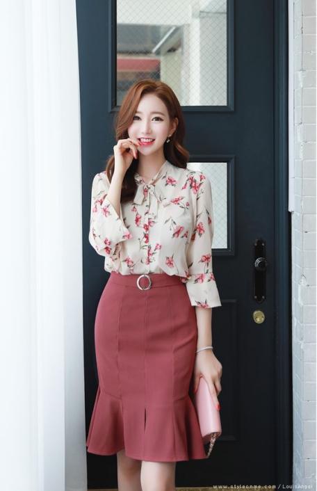 Thời trang đầm công sở Hàn quốc đẹp dành cho nữ - Mẫu 4