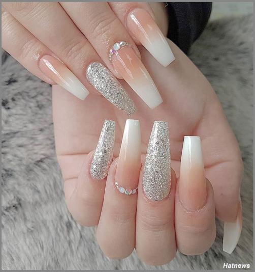 Các mẫu nail omber màu trắng đẹp nhất hiện nay