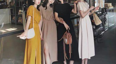 Xu hướng thời trang mẫu váy đầm maxi thun dài đẹp kiểu hàn quốc