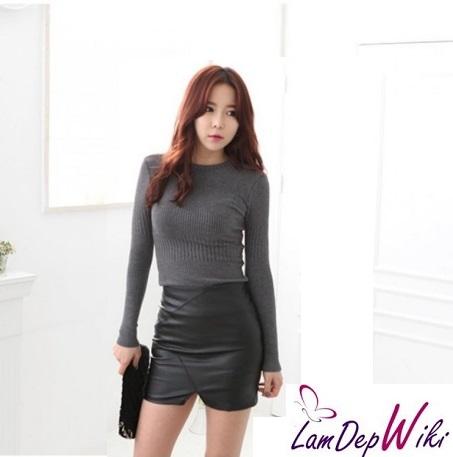 Chân váy đầm xẻ tà đẹp kiểu Hàn Quốc. Mẫu 1 2020 kiểu Hàn Quốc