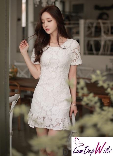 Mua bán xem mẫu thiết kế váy đầm dự tiệc màu trắng đẹp - Hình 1