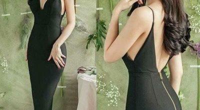 Thiết kế thời trang váy đầm ôm body 2 dây cực đẹp