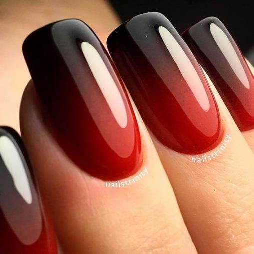 Mẫu móng tay nail màu đỏ đen đẹp nhất - hình 3