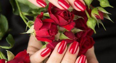 Mẫu móng tay nail màu đỏ tươi đẹp nhất - hình 2