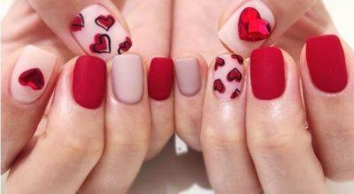 Mẫu nail tông đỏ cho người có móng tay ngắn
