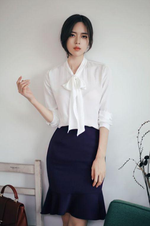 Các kiểu hân váy bút chì hàn quốc đẹp nhất hiện nay - Mẫu 2