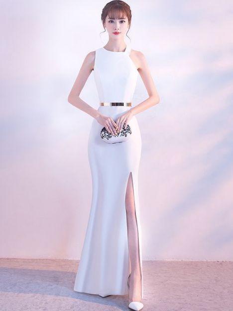 Phong cách thời trang váy đầm dạ hội trắng đẹp - Mẫu 2