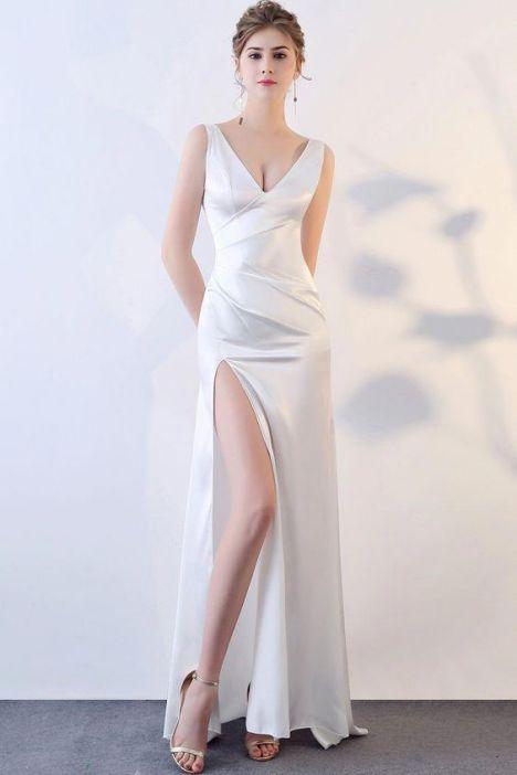 Phong cách thời trang váy đầm dạ hội trắng đẹp - Mẫu 3