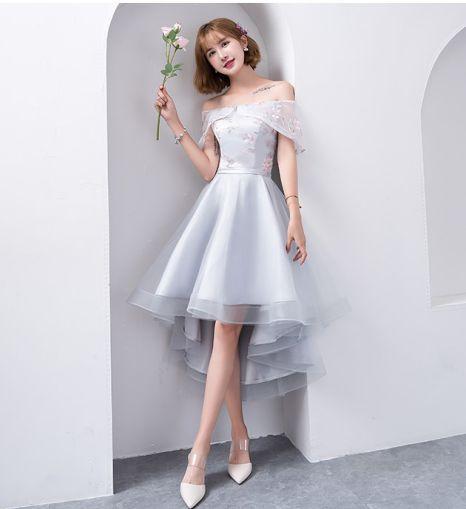 Chiếc đầm dạ hội màu trắng dáng ngắn trẻ trung năng động - Mẫu 3