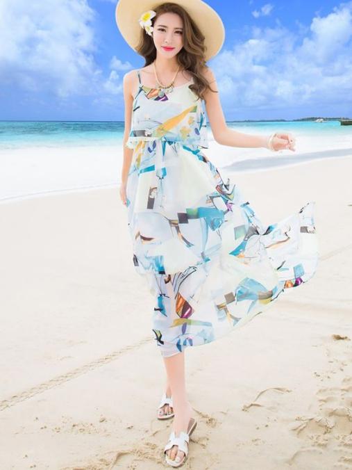 BST những mẫu váy đầm maxi đẹp dành để đi biển cực quyến rũ - Hình 6