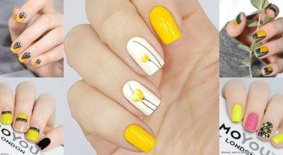 Những mẫu nail màu vàng đẹp
