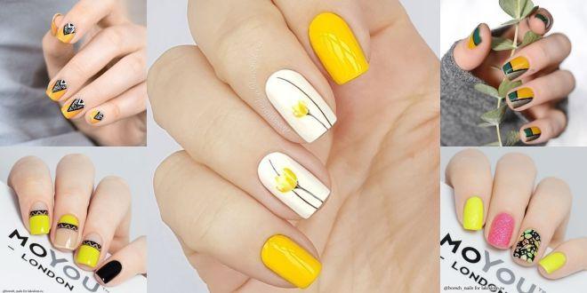 30+ Ý tưởng về những mẫu nail màu vàng cực đẹp hot trend 2021