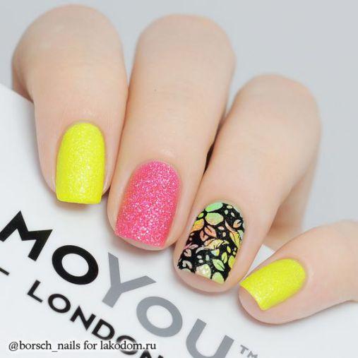 Phong cách Nail màu vàng ngọt ngào