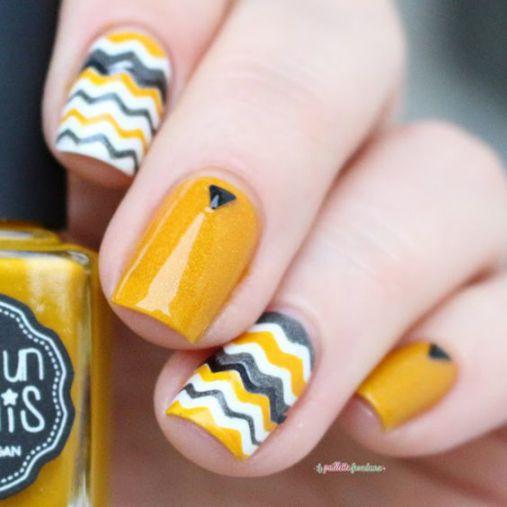 Ý tưởng Nail màu vàng xinh lung linh