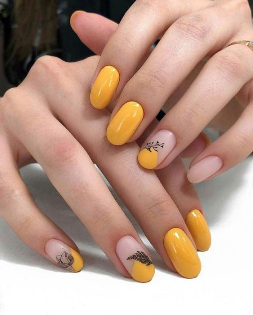 BST các mẫu nail xinh màu vàng hot nhất hiện nay - Hình 2