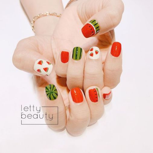 Bộ móng nail xinh dành cho mùa hè - Hình 1