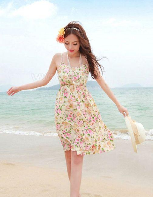 Những mẫu váy đầm voan đi du lịch đẹp