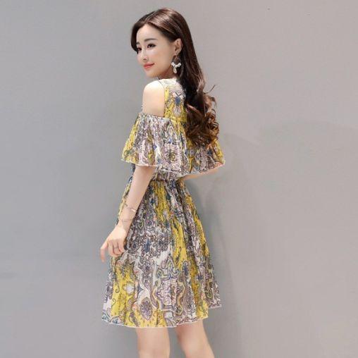 Những mẫu váy đầm voan lệch vai đẹp
