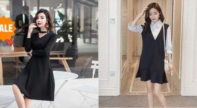 Mẫu váy đầm công sở màu đen đẹp hợp xu hướng thời trang năm 2020