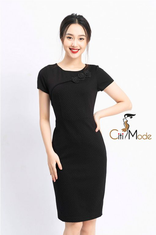 Những mẫu Váy ôm công sở màu đen quyến rũ - Hình 2