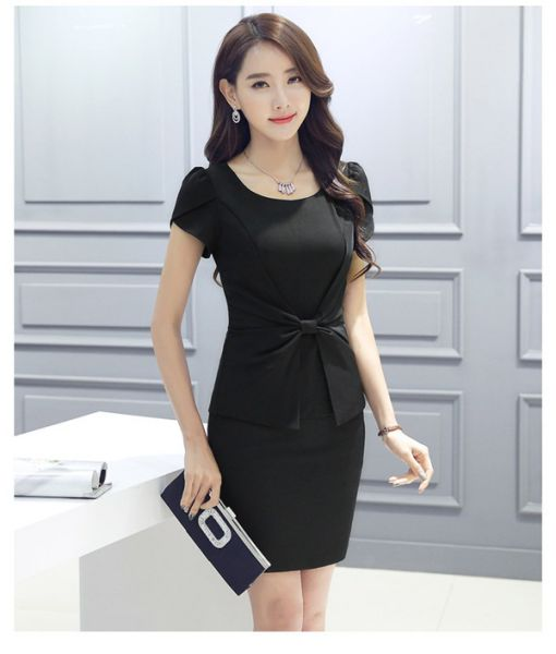 Những mẫu Váy ôm công sở màu đen quyến rũ - Hình 3