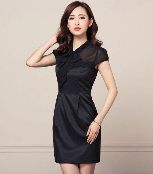 Những mẫu Váy ôm công sở màu đen quyến rũ - Hình 4