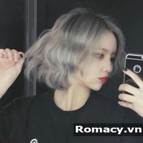 Tóc nữ ngắn xoăn không mái đẹp mới nhất thể hiện cá tính