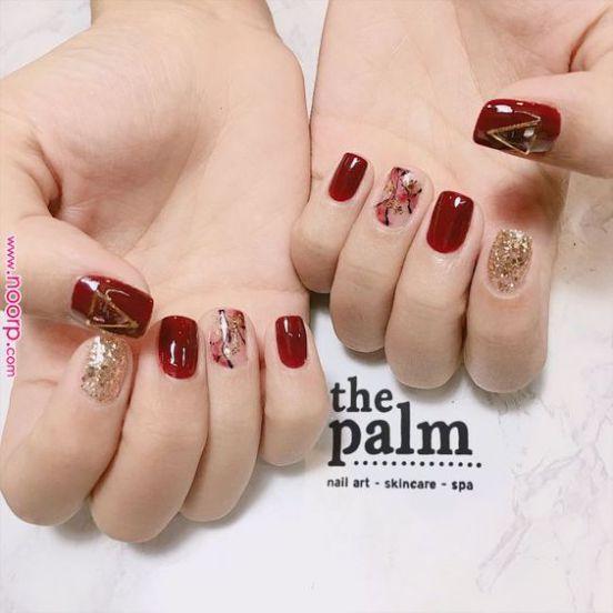 Phong cách thời trang mẫu móng tay màu đỏ đẹp - Hình 3