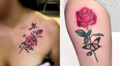 Hình xăm hoa hồng cho nữ đẹp nhất hiện nay