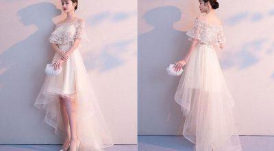 Mẫu thời trang đầm dạ hộ ngắn đẹp nhất hiện nay