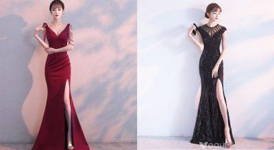 Thời trang mẫu váy đầm xẻ tà đẹp nhất 2020
