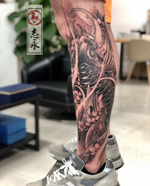 Hình ảnh xăm tattoo cá chép đẹp và ý nghĩa nhất số 17