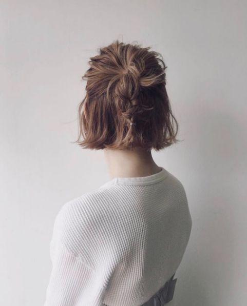 Tổng hợp các kiểu tóc ngắn buộc nửa đầu chiếm tình cảm nhiều phái nữ - Hình ảnh số 2