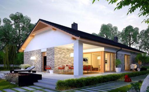 Nhà cấp 4 kiểu dáng Châu Âu mới nhất được xây dựng trên diện tích vừa phải, nhưng vẫn đáp ứng mọi nhu cầu cho chủ nhà một cách khéo léo