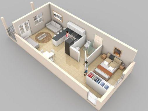 Nhà cấp 4 có 1 phòng ngủ kiến trúc hiện đại giúp chủ nhà tiết kiệm diện tích nhỏ xinh